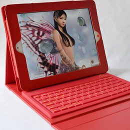 Wholesale Tablet Cover Bluetooth Keyboard - New Holder Stand Leather Case Cover With Wireless Bluetooth 3.0 Silicone Keyboard for Apple iPad 2 3 4 5 Air Tablet PC