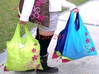Wholesale Fedex Shops - Fedex DHL Free shipping wholesale Eco-friendly Strawberry Shopping Bag Handle bags random colors R01,500pcs lot