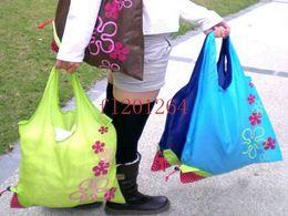 экологически чистые сумки бесплатно Скидка Fedex DHL бесплатная доставка Оптовая Эко-клубника хозяйственная сумка Ручка сумки случайные цвета R01, 500 шт. / лот