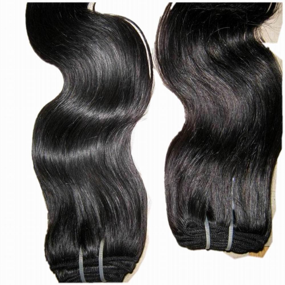 BILLIGER unverarbeiteter indischer Menschenhaar dicker Bündel / 300g Diskontpreis heiße verkaufende Körperwellen-Haar Webart