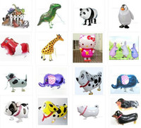 Wholesale latest design inches aluminum balloons inflatable walking pet animal foil ballons New kids toys birthday party supplies wedding deco