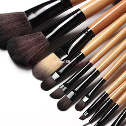 Wholesale Makeup Brush Set 15 - Free shipping !! 15 pcs Soft Synthetic Hair make up tools kit Cosmetic Beauty Makeup Brush Black Sets with Leather Case