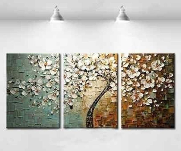 top popular Large Modern hand-painted Art Oil Painting Wall Decor canvas + framed 2020