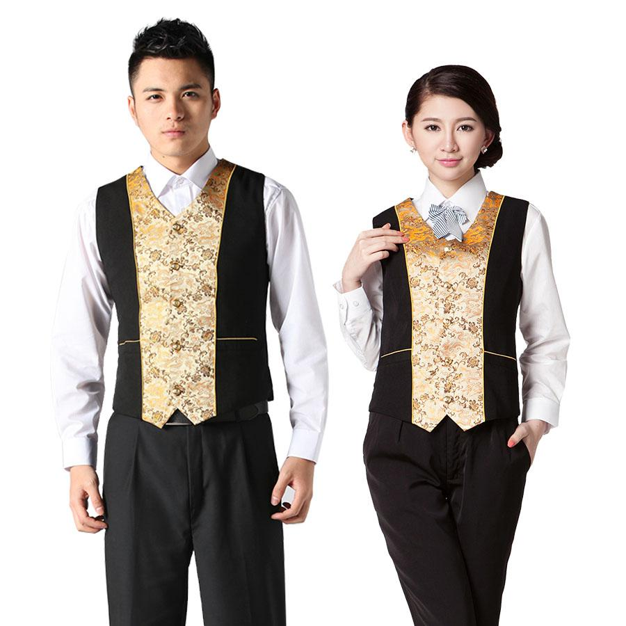 mj01 hotel uniforms vest vest ktv restaurant waiter uniform waiter