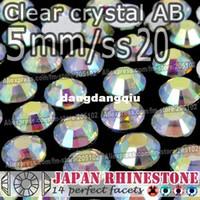 ingrosso resina hotfix-All'ingrosso-5mm SS20 Clear Crystal AB FlatBack Rhinestones della resina, 2000pcs / bag Non-hotfix Colla-su pietre di cristallo sciolte DIY Nail-Art Cellphone