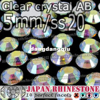 berrak sanat çantaları toptan satış-Toptan-5mm SS20 Temizle Kristal AB FlatBack Reçine Rhinestones, 2000 adet / torba Olmayan düzeltme Tutkal-on gevşek kristal taşlar DIY Nail-Art Cellphone