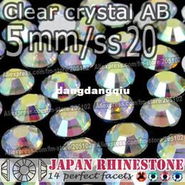 All'ingrosso-5mm SS20 Clear Crystal AB FlatBack Rhinestones della resina, 2000pcs / bag Non-hotfix Colla-su pietre di cristallo sciolte DIY Nail-Art Cellphone cheap nail stone clear da chiodo pietra chiara fornitori