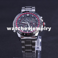 Wholesale promotion table - Wholesale-Watches Men Luxury Brand CURREN men Sports Watches Stainless Steel Relojes Analog Table  watch Casual Promotion Hot Sale