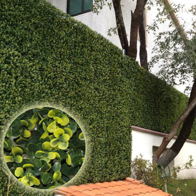 Marvelous Artificial Plants 50*50cm Artificial Boxwood Hedges Plastic Outdoor Fence  Garden Decoration Fence Screen Greenery Panel Fake Hedge Artificial Plants  ...