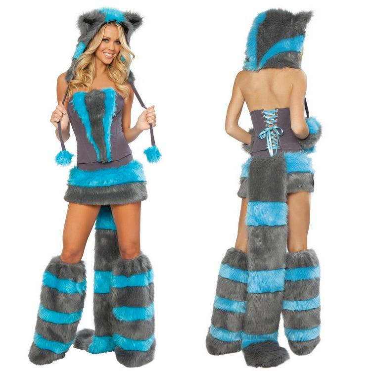 blue fox fur clothing panda animal girl dress halloween costumes werewolf costume costumes performing ds guangzhou nuannuan6039 online with 850piece on