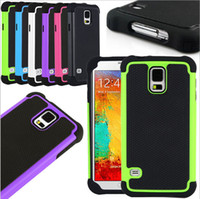 Wholesale S4 Hard - Hybrid Rugged Impact Rubber Matte Robot Silicon + PC Hard Case Cover for iPhone 4 5 4S 5S 5C Samsung Galaxy S3 S4 S5 MINI