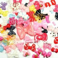 Wholesale Diy Phone Ribbon - Wholesale-free shipping mixed fitting accessorio resin ribbon plane DIY decorate mobile phone 100pcs lot