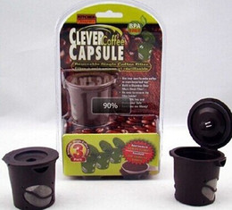 Wholesale Capsule Wholesaler - New arrived Clever Coffee Capsule Reuseable Single Coffee Filter Keurig k-cup Free Shipping ,12pcs=1lot=4package