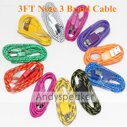 $enCountryForm.capitalKeyWord NZ - 1M 3FT Note 3 Braid Fabric USB Micro Charger Cable For Samsung Galaxy S5 Note 3 3.0 Data Sync Charging Adapter Cord For Samsung Galaxy Note3