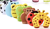 Wholesale Door Jammers - 20pcs set Child kids Baby Animal Cartoon Jammers Stop Door stopper holder lock Safety Guard Finger