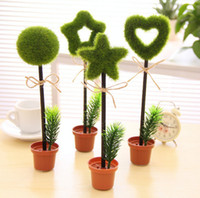 Wholesale Capsule Pens - Wholesale - Green plants Ball Point Pen novelty capsule ballpen Creative Stationery Children's Gifts Office & School Supplies