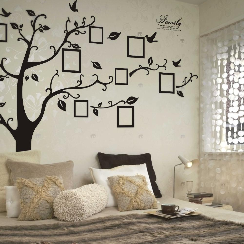 Free Express XXL Size 200*250CM Family Picture Photo Frame Tree Wall Quote Art Stickers Vinyl Decals Home Decor