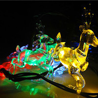 LED outdoor christmas deer decorations - New Year Cristmas Solar Powered LED String Light Deer fairy Lights Christmas Lights For Outdoor Garden Decoration