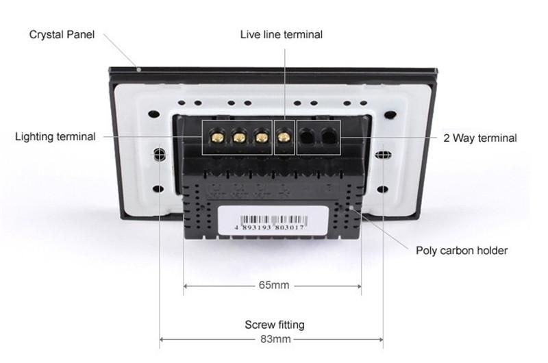 LIVOLO Switches US / AU estándar VL-C303DR-81/82 Panel de Cristal Cristal Atenuador de Pantalla Táctil Digital Control Remoto Inicio Interruptor de Luz de Pared + Control Remoto