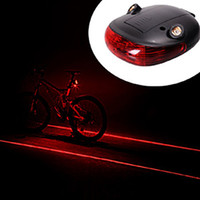 Wholesale Laser Cycle Lights - SKU528 BL002 Waterproof Bicycle Laser Tail Light 2 Lasers + 5 LEDs Bike Safety Red Rear Warning Light Cycling Safety Caution Lamp