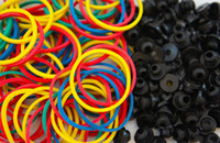 Wholesale Nipple Rubber Bands - Wholesale Price 200 Color #12 TATTOO machine RUBBER BANDS+200 A-Bar Black Nipples grommets gun tattoo accesories tattoo kit Free Shipping