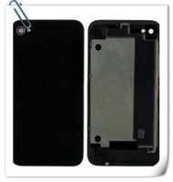 Back Glass Battery Door Door Back Cover Parte de substituição com difusor de flash para iphone 4 4G 4S grátis DHL shipping