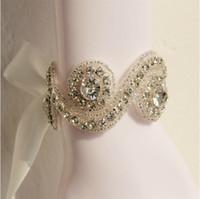 ingrosso velati da sposa d'argento-Monili d'argento Crystal Bracciali Handmade nuziale Mezzo Accessori Vintage Wedding Accessories Bridal (abbinato Veil e fascia disponibile)