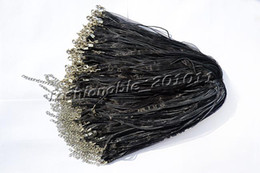 Wholesale Wholesale Organza Cord Necklaces - Wholesale 100pcs lot Black Silk Organza Ribbon braided Necklace Strap Cord Chain Silver Tone Lobster clasp #ac11 FREE Shipping