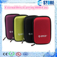 Wholesale 2 inch External Drive Carrying HDD Case protector Hard Drive Disk Storage Box Colorful wu