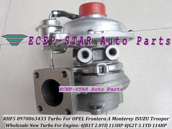 RHF5 VICC 8970863433 VI95 8970863435 Turbo Turbocharger For OPEL Frontera A Monterey ISUZU Trooper 4JB1T 2.8TD 2.8L 4JG2T 3.1L 3.1TD 114HP