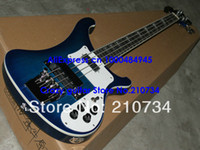 Wholesale Blue Burst Custom Guitar - Blue Burst 4003 bass Custom 4 Strings Elecctric Bass IN Stock Bass Electric guitar Top guitars Free Shipping