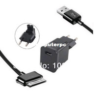 Wholesale Ipad2 Adapter - Charger Travel Plug USB Data Cable Adapter for Samsung Galaxy