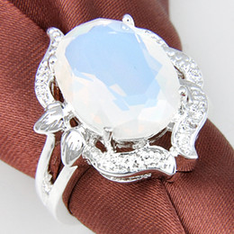 Wholesale 925 Wholesale Silver Ladies Rings - Free shipping ---925 silver fashion Mix size red white opal stone ring best gift for lady R0268