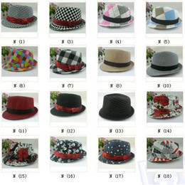 Wholesale Grey Fedora Hat Boys - Boys Fedoras baby cap dicer top fedora hat for kids
