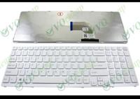 "Wholesale Vaio E - New Notebook Laptop keyboard for Sony Vaio SVE15 SVE 15 SVE15 SVE1511 E 15.5"" E15 White WITH Frame US English ver - 149167811"