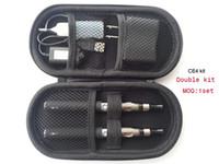 Wholesale Ego Ce4 Full Color - E cigarette eGo ce4 double kit ego t battery 650mah 900mah 1100mah with full color zipper case ce4 atomizer 1set
