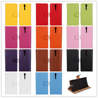 Wholesale Ericsson Xperia S - 11Colors Genuine Wallet Cover Case For SONY Xperia S Lt26i Stand Design Luxury Wallet Genuine Leather Phone Bag Cover