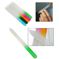 Wholesale Crystal Glass Nail Files - 10Pcs lot Durable Crystal Glass Nail File Buffer Art Files Tool #5729