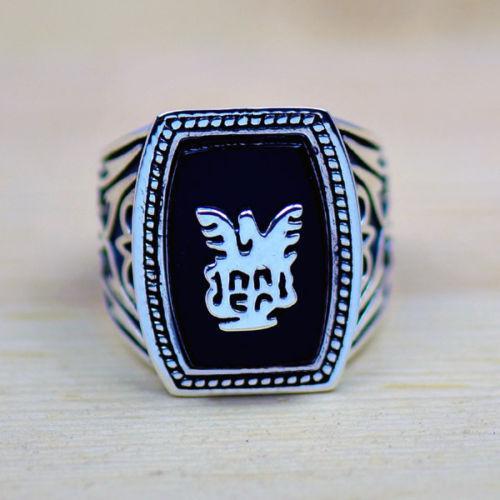 Högkvalitativ gratis frakt Handgjord Antik Vampyr Diaries Jeremy Lapis 18K Gold Fyllda GP Men Ring Storlek 8-12 Present