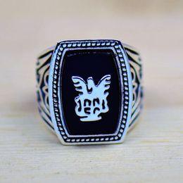 anéis artesanais grátis Desconto O envio gratuito de alta qualidade Handmade Antique Vampire Diaries Jeremy Lapis 18 K Gold Filled GP Men tamanho do anel 8-12 presente