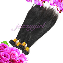 Wholesale Grade 5a Virgin Brazilian Hair - Queen Hair Products Grade 5A Brazilian Virgin Hair Straight Hair Natural 100% Human Hair Weave Extensions 6pcs lot Fast Free Shipping!
