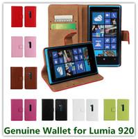 ingrosso casi per lumia-Custodia in pelle di alta qualità per Smart Cover per Nokia Lumia 920 e custodia per cellulare