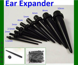 Halloween Uv Canada - Uv body jewelry big wholesale free shipping 900pcs mix 9size piercing ear taper ear expander uv ear stretcher piercing