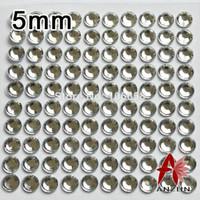 Wholesale Rhinestones Self Adhesive Wholesale 5mm - Wholesale-5mm 100pcs sheet 10Sheets lot Self Adhesive Diamante Stick On Rhinestone Gems DIY Rhinestone Sticker Crystal