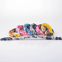 Wholesale Camouflage Dog Collars Leashes - 100pc 6 colors Camouflage safety LED flashing dog collar LED pet necklace cat collar leashes p26