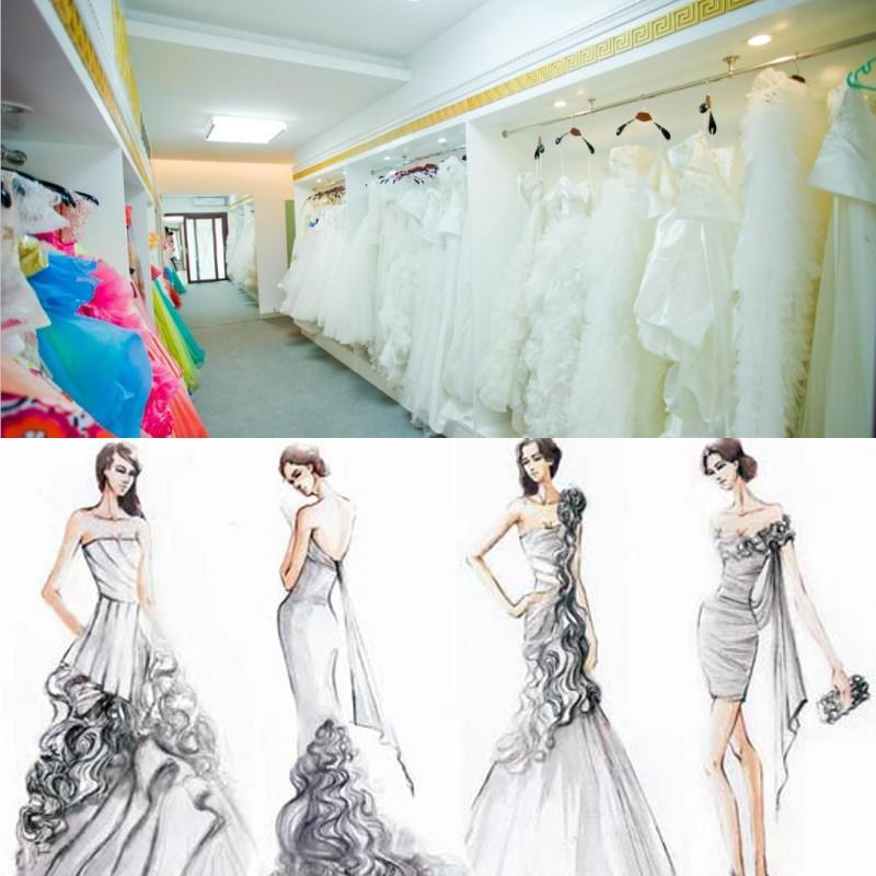 Stor rabatt! Högkvalitativ U Open Back Print Chiffon Lace Long Peach Color Bridesmaid Dress Party Dress Prom Vestidos