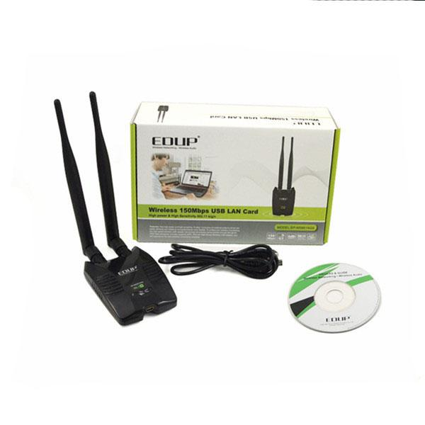 Free Internet 150Mbps EDUP Lan Adapter Ralink RT3070 Wireless Wifi USB Lan  Adapter Wireless Hack With External Wifi Antenna Usb To Network Printer