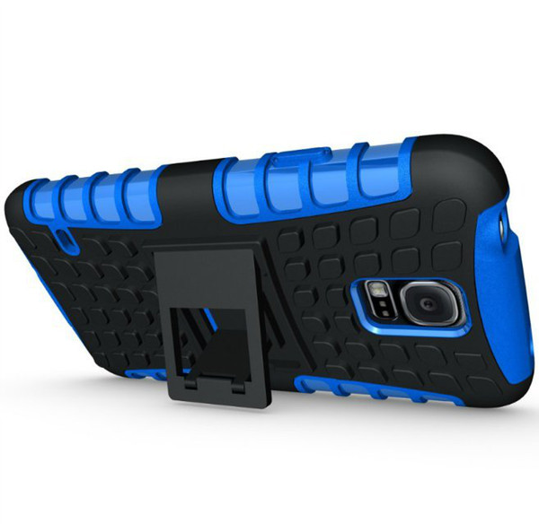 2 in 1 Custodia rigida resistente agli urti per TPU + PC resistente agli urti KickStand per Iphone 4 4s 5 5s SE 5c 6 6s TOUCH 6 Galaxy s4 s5 s5 mini 170pc