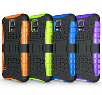 Wholesale heavy impact phone cases online - Heavy Duty Rugged Dual Layer Impact Hybrid KickStand Case Cover For Samsung apple LG MOTO SONY ECT SMART PHONE