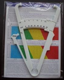 Toptan satış Vücut Yağ Ölçüm Test Kaliperleri Skinfold Cilt Fold Kilo Kaybı Testi DHL tarafından 1000 adet / grup